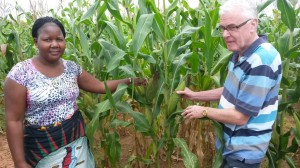 Elisa and Derek in Maize field