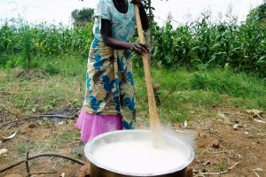 Cooking Maize on Outside Fire