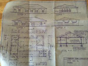 Blueprint of Dereks Diner